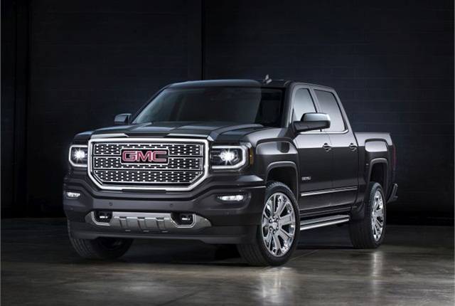 Photo of 2016 GMC Sierra Denali courtesy of GM.