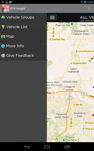 GPS Insight's new mobile app for Android smartphones.