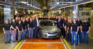 First Insignia for Australia: Start of regular production of the Holden Insignia VXR in the main plant in Rüsselsheim. Photo:GM