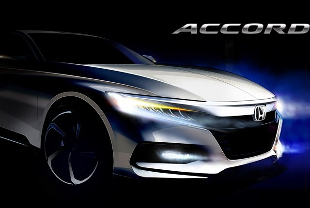 Sketchof the 2018 Accord courtesy of Honda.