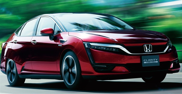 Photo of the Clarity Fuel Cell courtesy of Honda.