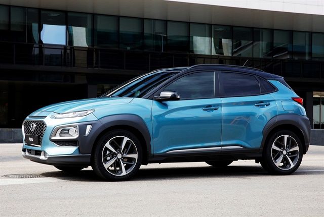 Photo of Kona courtesy of Hyundai.