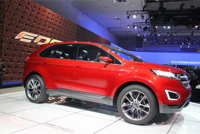 Ford's Edge Concept will feature a host of automated driving features.