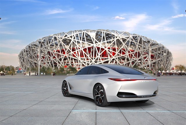 Photo of the Q Inspiration concept vehicle in Beijing courtesy of Infiniti.