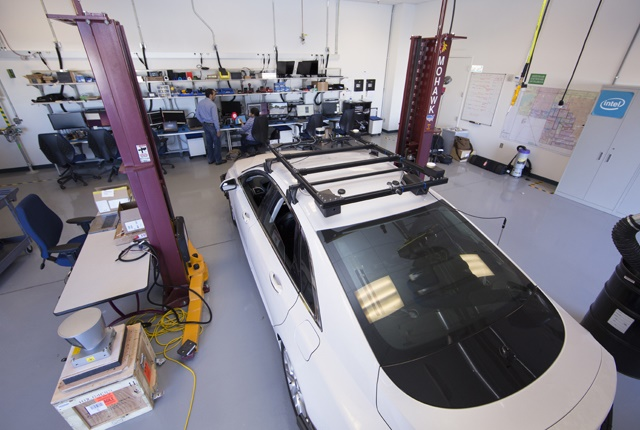 Photo of Intel's Advanced Vehicle Lab in Chandler, Ariz., by Tim Herman/Intel Corporation.