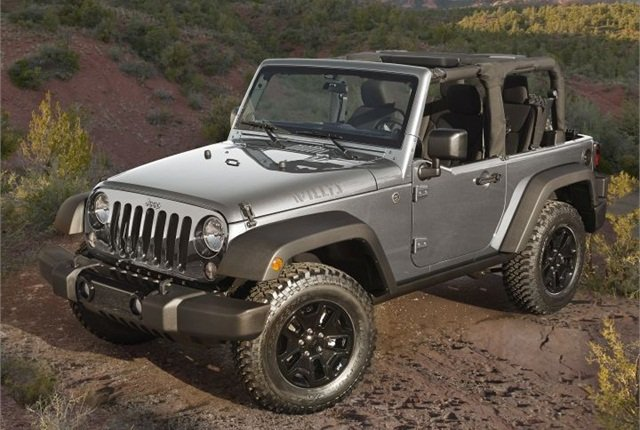 Photo of 2015 Jeep Wrangler courtesy of FCA US.