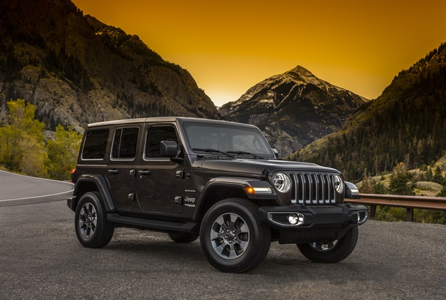Photo of 2018 Jeep Wrangler courtesy of FCA.