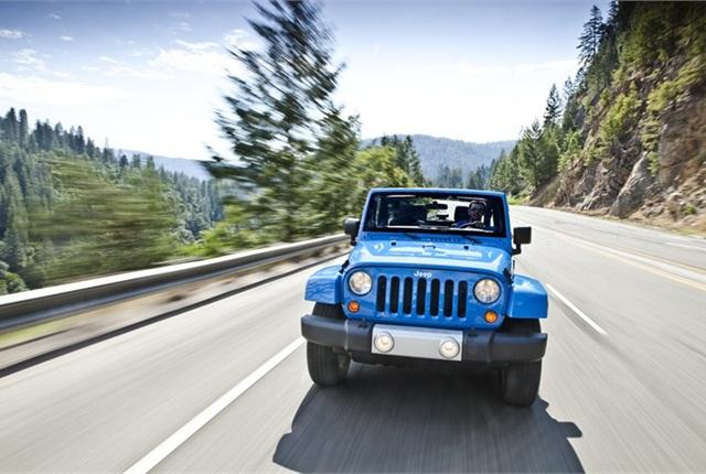 Photo of Jeep Wrangler courtesy of Chrysler.