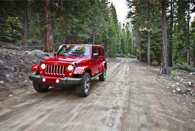 Photo of Jeep Wrangler courtesy of FCA US.