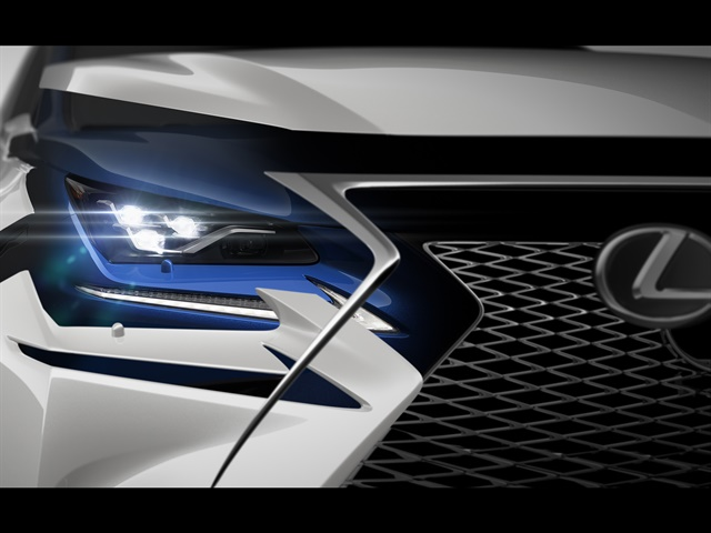 Teaser photo of refreshed NX courtesy of Lexus.