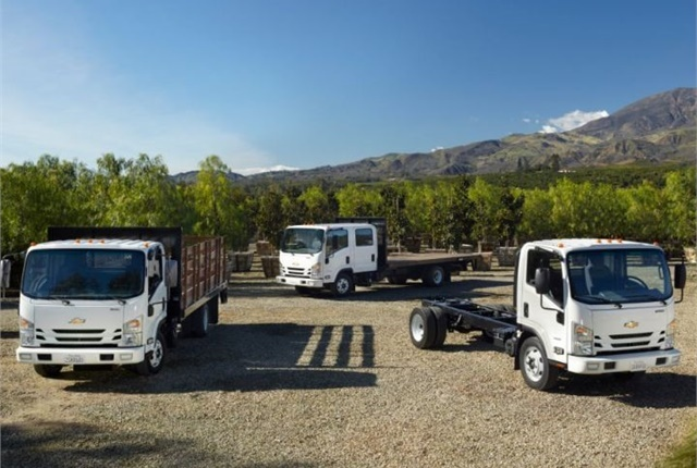Photo of Chevrolet's low cab forward models courtesy of GM.