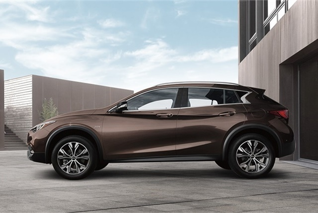 The Infiniti QX30 may be one such model that will be electrified by 2021.