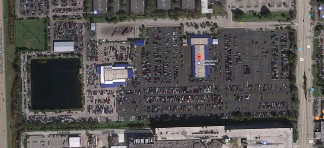 Satellite image of Manheim Fort Lauderdale via ThingLink.