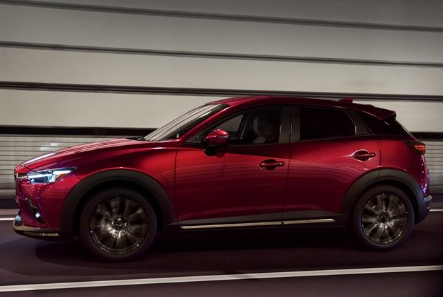 Photo of 2019 CX-3 subcompact SUV courtesy of Mazda.