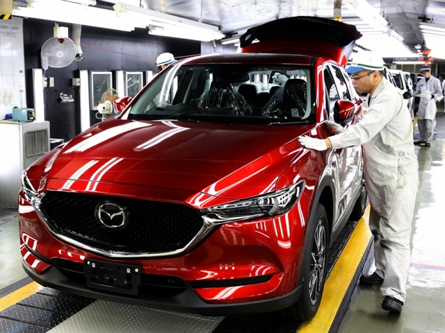 Photo of Job 1 of the next-generation CX-5 courtesy of Mazda.