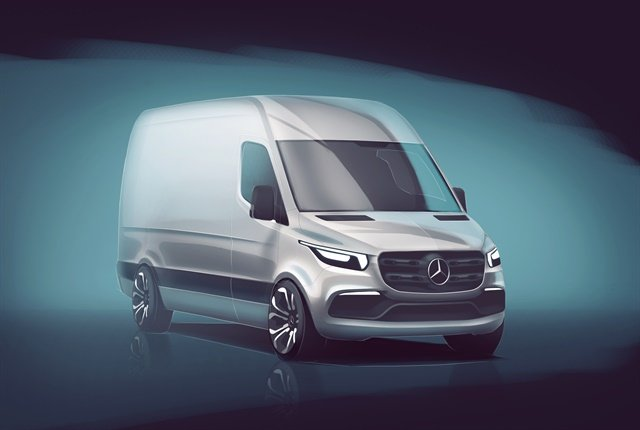Sketch of the next-generation Mercedes-Benz Sprinter courtesy of Daimler.
