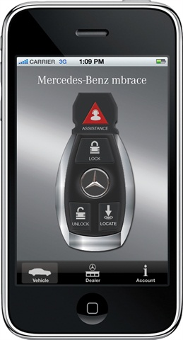 Mbrace Mobile Phone App. Photo Courtesy Of Mercedes Benz.