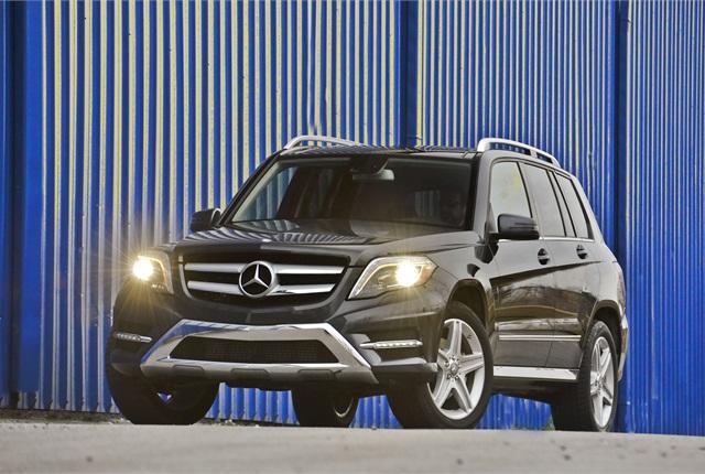The GLK250 Bluetec 4MATIC version of Mercedes' GLK features a diesel powertrain. Photo courtesy Mercedes.