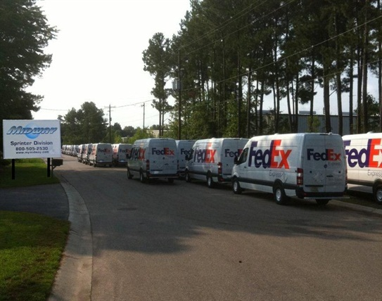 Midway installs specific vehicle interiors for customers such as FedEx.