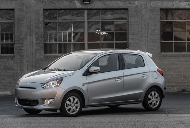 Photo of 2015 Mirage courtesy of Mitsubishi.