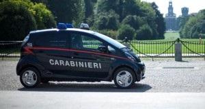 Mitsubishi i-MiEV sporting Carabinieri livery. Photo: Mitsubishi