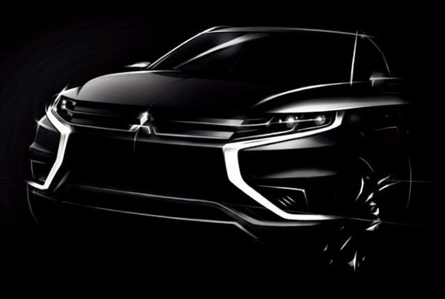 Photo of the Outlander PHEV Concept-S via Mitsubishi.