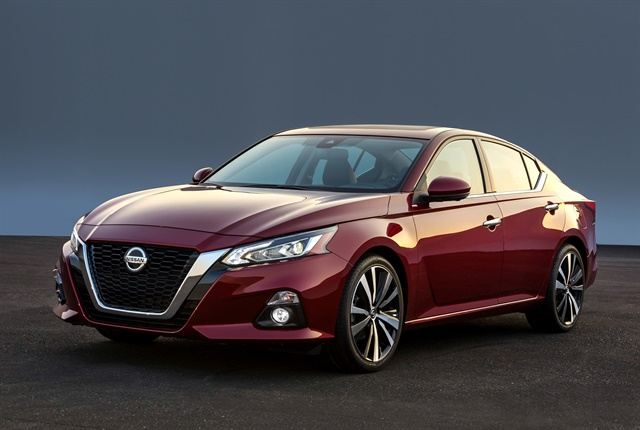 Photo of the 2019 Altima midsize sedan courtesy of Nissan.