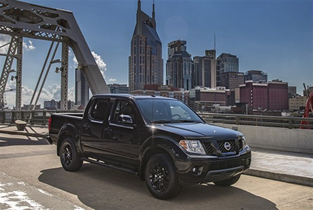 Photo of 2018 Frontier Midnight Edition courtesy of Nissan.