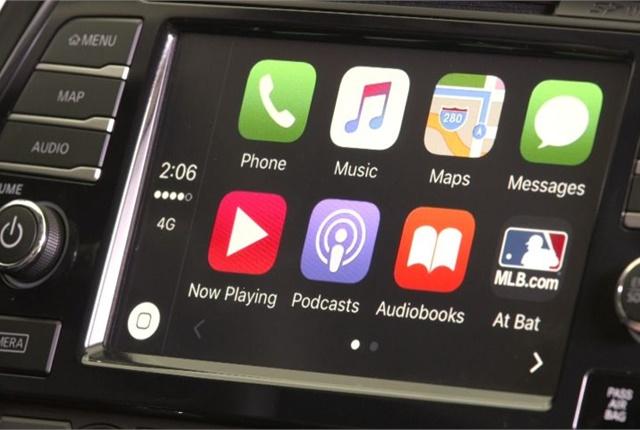 Photo of 2017 Maxima's CarPlay display courtesy of Nissan.