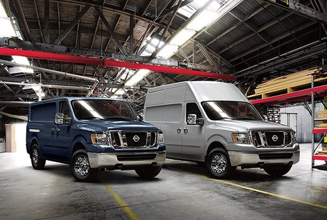 Photo of 2018 NV cargo vans courtesy of Nissan.