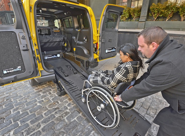 Nissan worked with BraunAbility to add wheelchair accessibility features to the NV200 Taxi. Photo courtesy Nissan.
