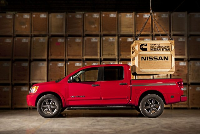 Nissan plans to offer a new Cummins V-8 Turbo Diesel engine in its Titan pickup truck. Photo courtesy Nissan.