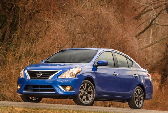 Photo of Nissan Versa courtesy of Nissan.