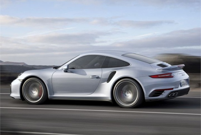 Photo of the 2017 911 Turbo S courtesy of Porsche.