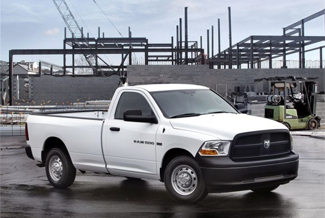 Full-size pickups such as the 2012 Ram 1500 best retained their value in 2013. Photo courtesy of Chrysler.
