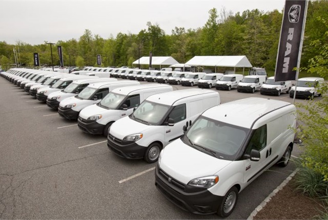 Photo of Ram ProMaster drive-away event courtesy of FCA.