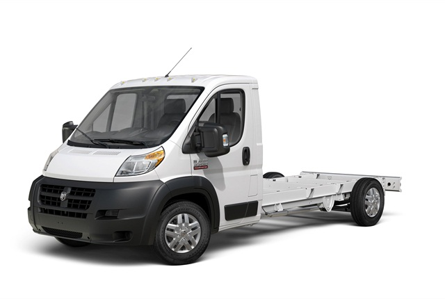Photo of Ram ProMaster chassis cab van courtesy of FCA US.