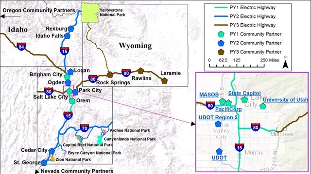 Map of planned electric corridors courtesy ofrockymountainpower.net.