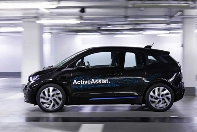 Photo of BMW i3 self-driving car courtesy of BMW.