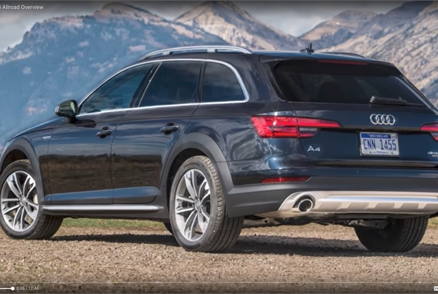 Screen shot of Audi A4 Allroad courtesy of Car TV/YouTube.