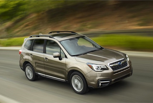Photo of 2017 Forester courtesy of Subaru.