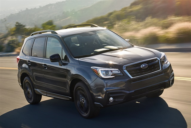 Photo of the 2018 Forester Black Edition courtesy of Subaru.