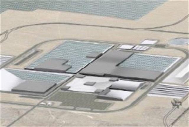 Illustration of Gigafactory via Tesla Motors.