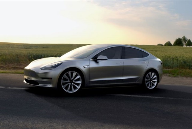 Photo of Model 3 courtesy of Tesla Motors.