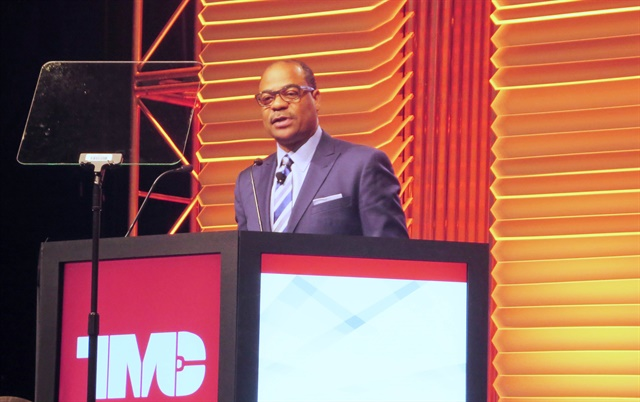 Fear of the unknown discourages investment in new trucking technologies, such as electric trucks, said UPS' Carlton Rose. Photo: Deborah Lockridge