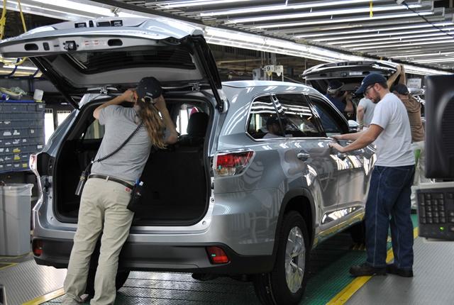 Photo of Indiana plant courtesy of Toyota.
