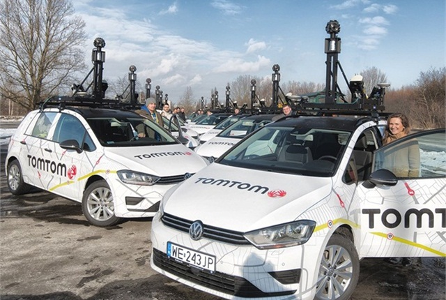 Photo of TomTom's mapping fleet courtesy of Bosch.