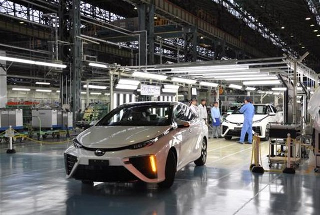 Toyota Mirai production line. Photo courtesy of Toyota.