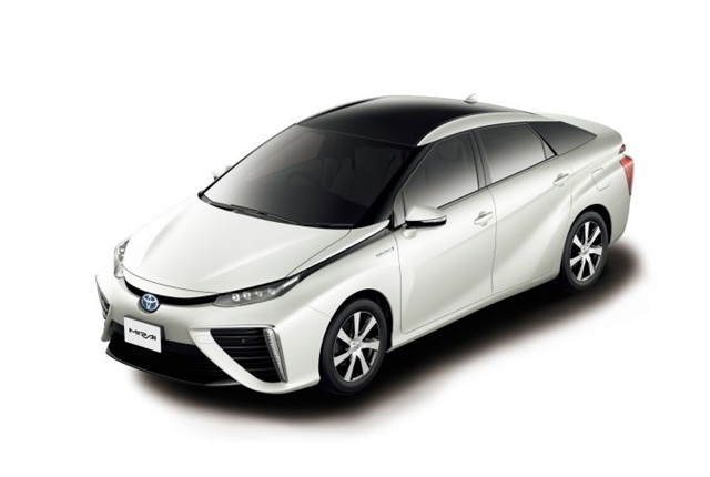 Photo of Mirai sedan courtesy of Toyota.
