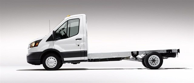 Ford stated the frame used in the Transit cutaway and chassis cab feature a uni-ladder structure that combines the cab with a girder frame.
